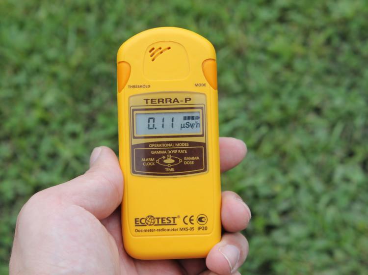 Dozimetr pro měření radioaktivity