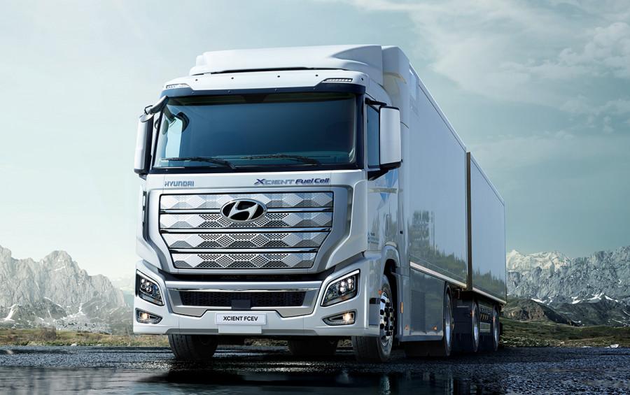 Hyundai Xcient - tahač na vodík