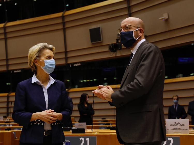 Ursula von der Leyenová a Charles Michel