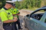 Policejní kontroly na lesních cestách