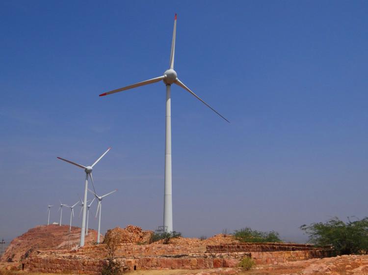 Větrná farma v Indii