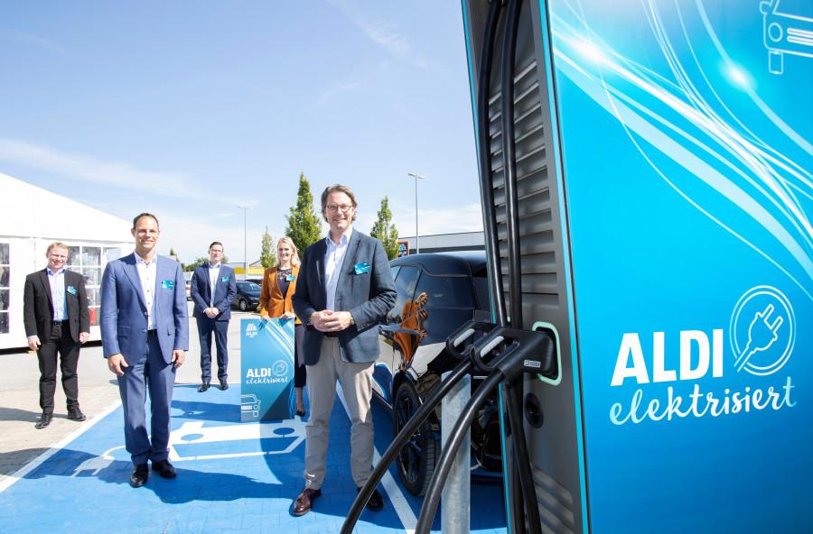 Nabíječky elektromobilů diskontního řetězce Aldi