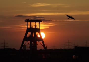 Těžební věž uhelného dolu
