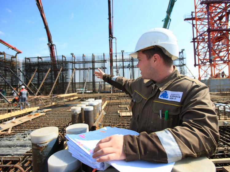 Stavba nového bloku jaderné elektrárny Kursk