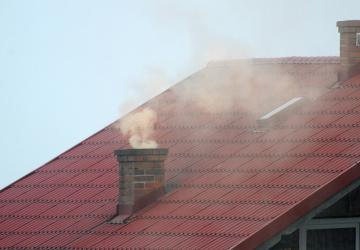 Spalování uhlí v rodinných domech
