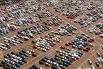 Parkoviště nově vyrobených vozidel