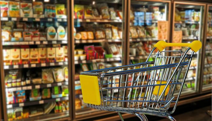 Nákupní košík v potravinách