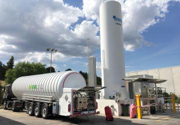 Mobilní čerpací stanice LNG