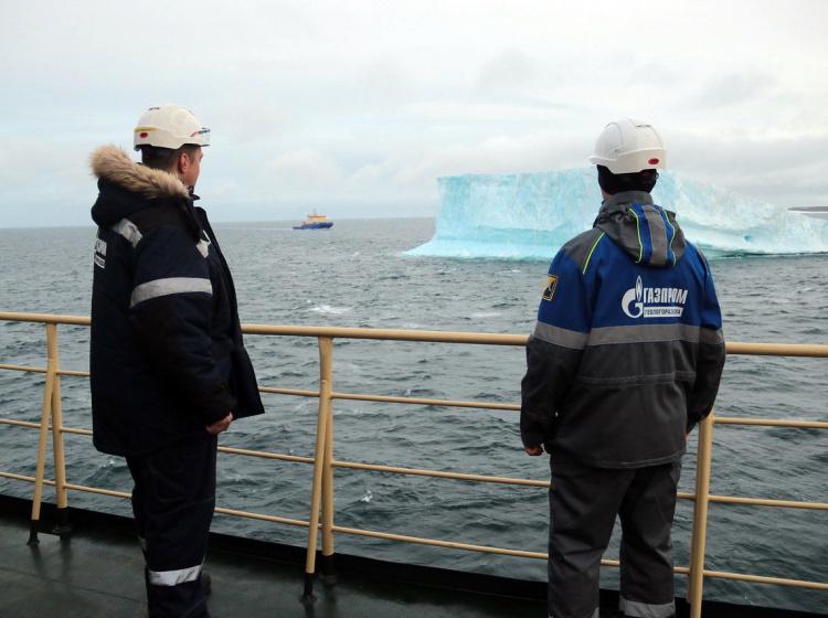 Zaměstnanci ruského Gazpromu
